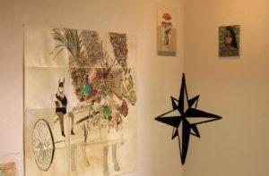 opere di Gurnari esposte alla galleria Zelle