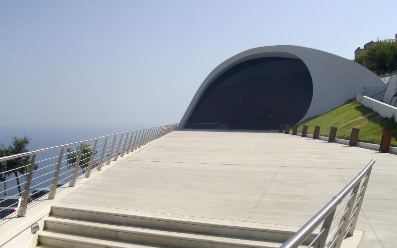 Auditorium a Ravello progettato da Niemeyer
